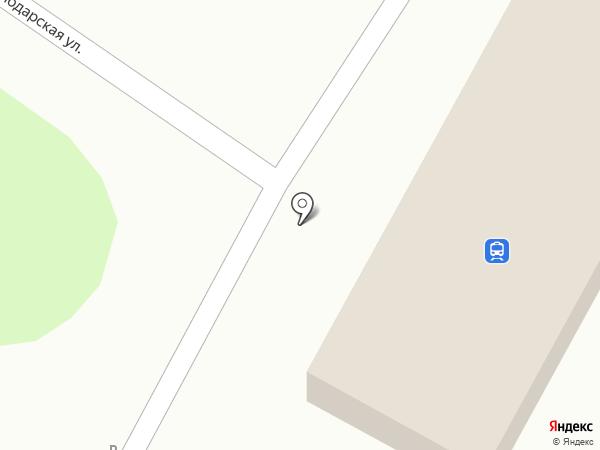 Железнодорожный вокзал на карте Динской