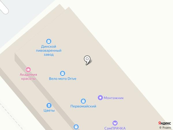 Магазин автозапчастей на карте Динской