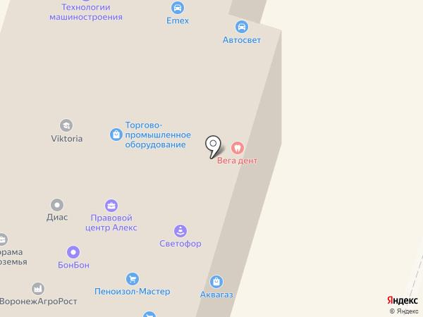 Эра на карте Воронежа