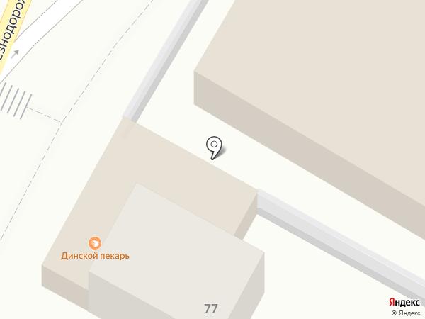 Магазин пива на Железнодородной (Динская) на карте Динской