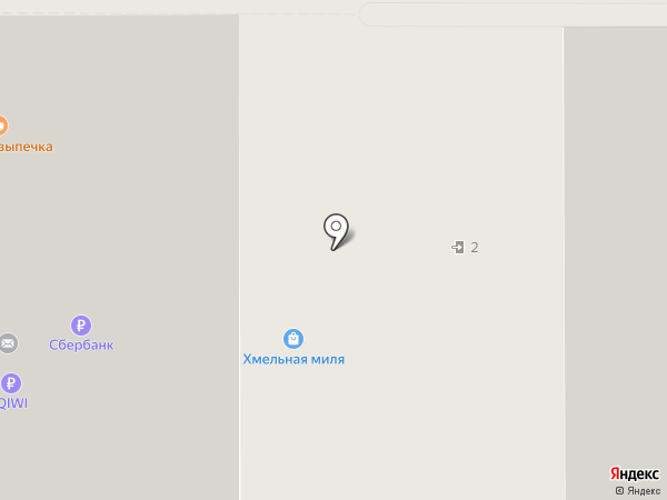 Хмельная миля на карте Воронежа