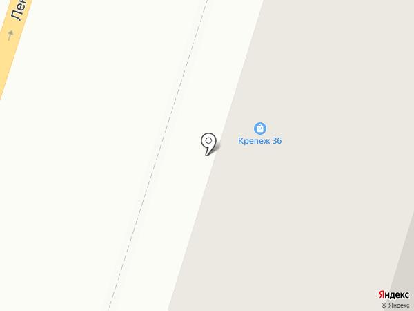 Крепеж 36 на карте Воронежа
