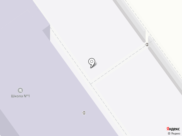 Средняя общеобразовательная школа №1 на карте Динской
