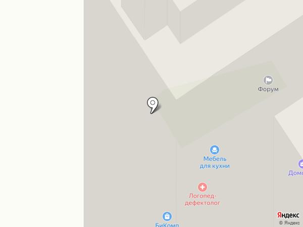 Смайл на карте Воронежа