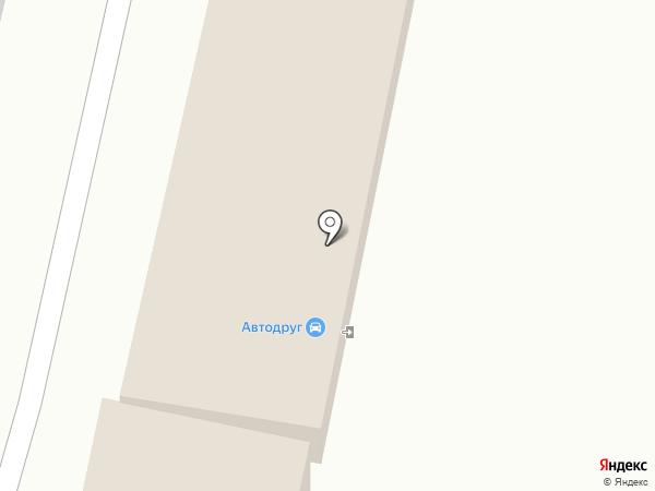 Автодруг на карте Воронежа