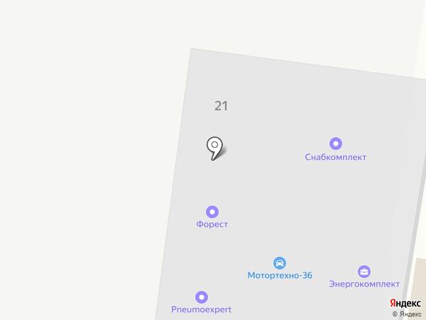 Бобров на карте Воронежа