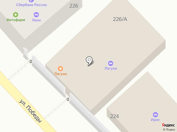 Лагуна на карте Сочи