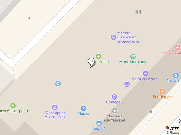 Лазаревский на карте Сочи