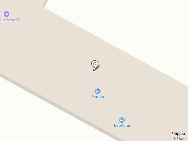 Ампер на карте Новой Усмани