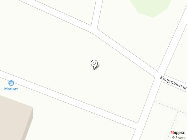 Автостоянка на ул. Квартальная на карте Новой Усмани