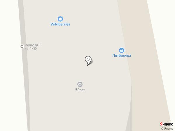 Пятью Пять на карте Новой Усмани