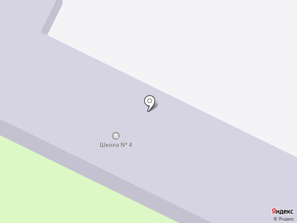 Новоусманская средняя общеобразовательная школа №4 на карте Новой Усмани