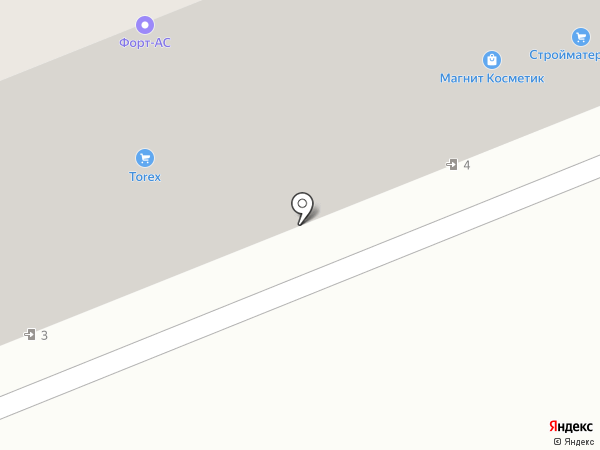 Форт-АСС на карте Азова