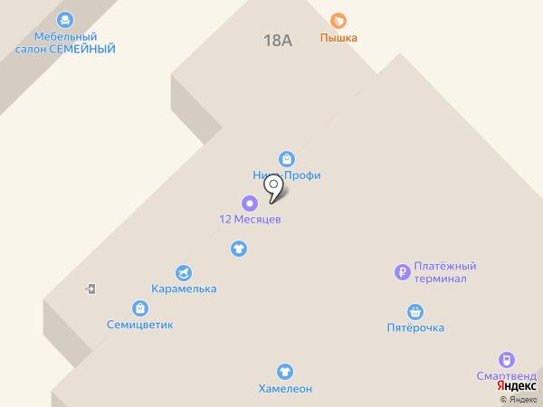 Карамелька на карте Азова