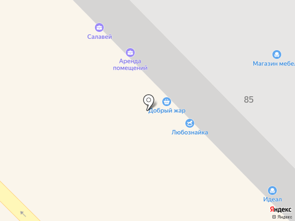 Азовские габионы на карте Азова