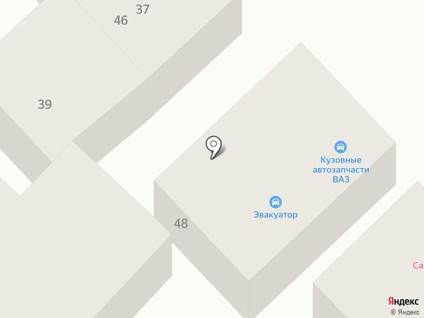 Эвакуатор Азов на карте Азова