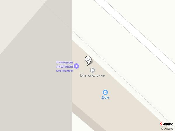 Дом на карте Липецка