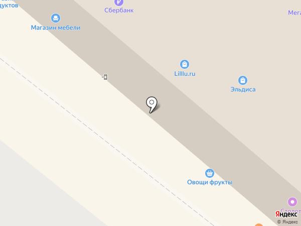 Магазин хлебобулочных изделий на карте Рыбного