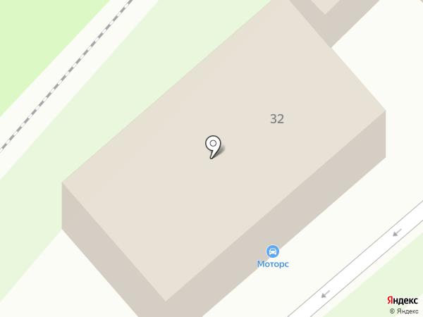 Моторс на карте Липецка