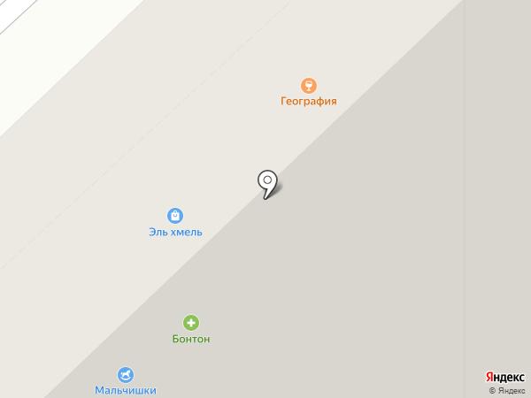 География на карте Липецка