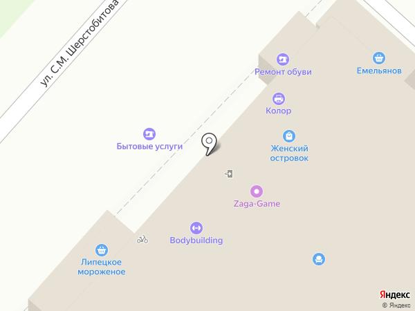 На Шерстобитова на карте Липецка