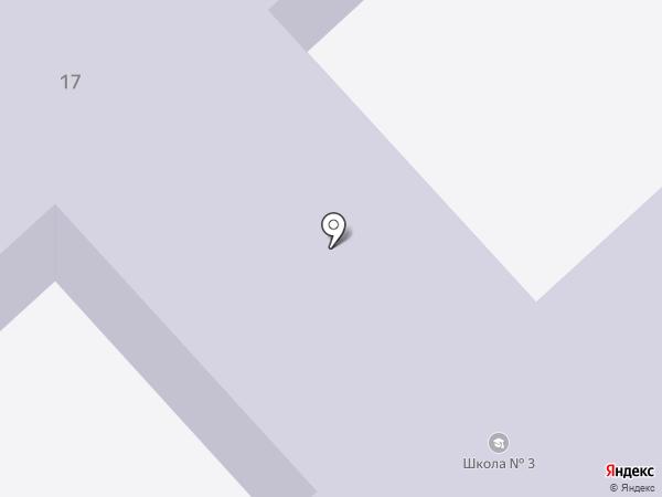 Рыбновская средняя школа №3 на карте Рыбного