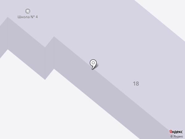 Рыбновская средняя общеобразовательная школа №4 на карте Рыбного