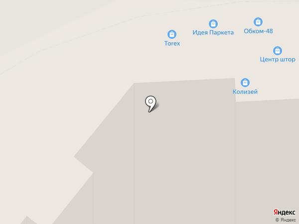 Идея паркета на карте Липецка