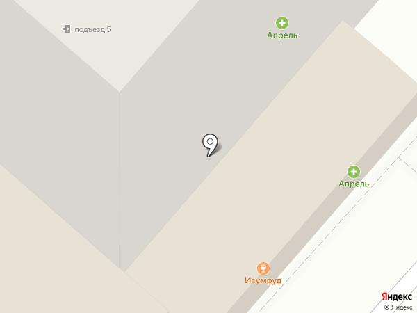 Изумруд на карте Липецка