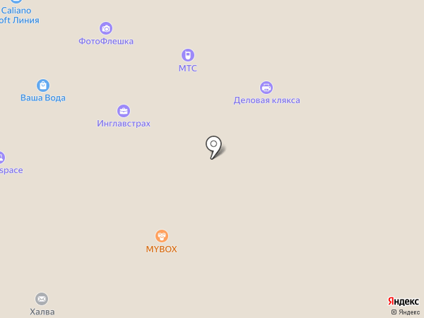 Каскад на карте Липецка