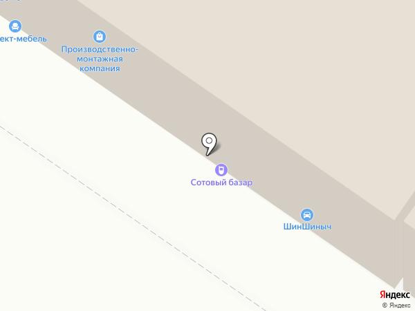 Велопонт на карте Липецка