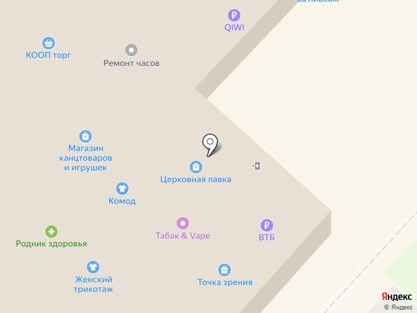 Липка на карте Липецка
