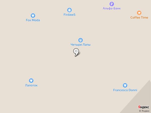 Четыре лапы на карте Липецка