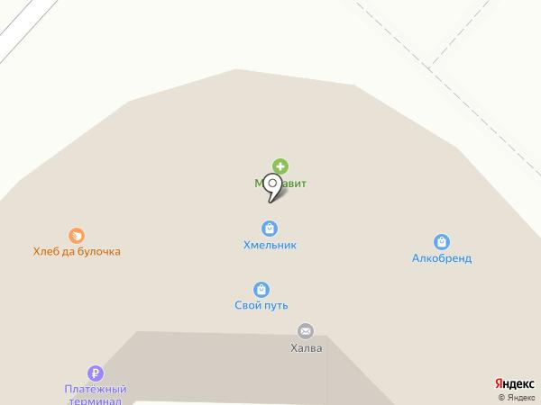 Моялино на карте Липецка