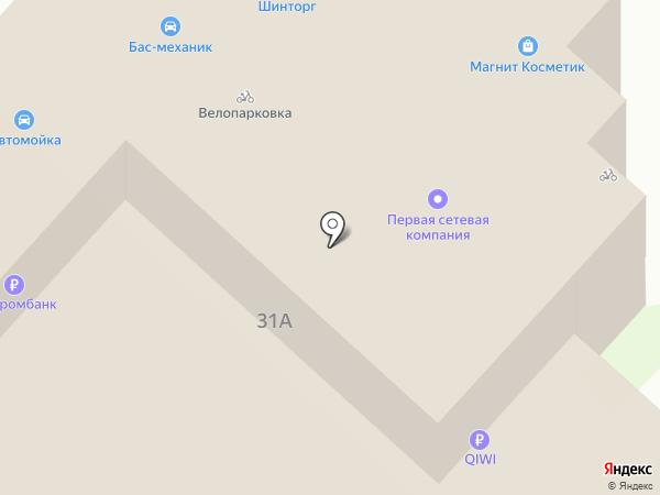Октябрьский на карте Липецка
