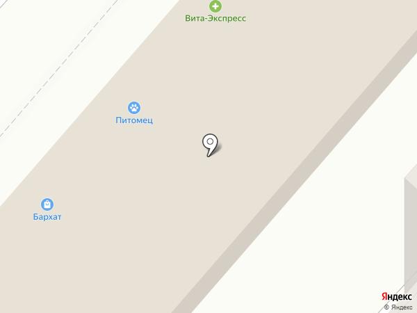 Лира на карте Липецка