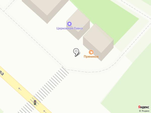 Пряников на карте Липецка