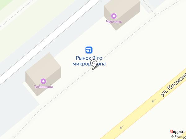 Табакерка на карте Липецка