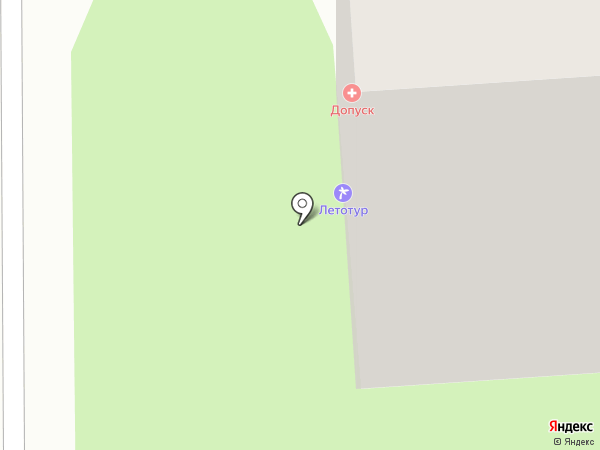 Допуск на карте Липецка