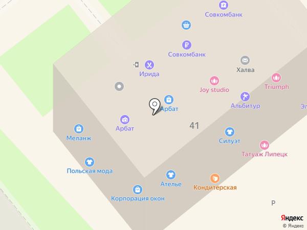 Пласт-Л на карте Липецка