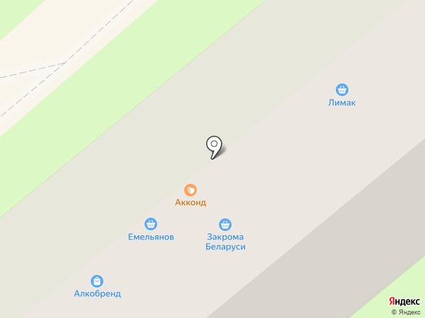 Сытый бацька на карте Липецка