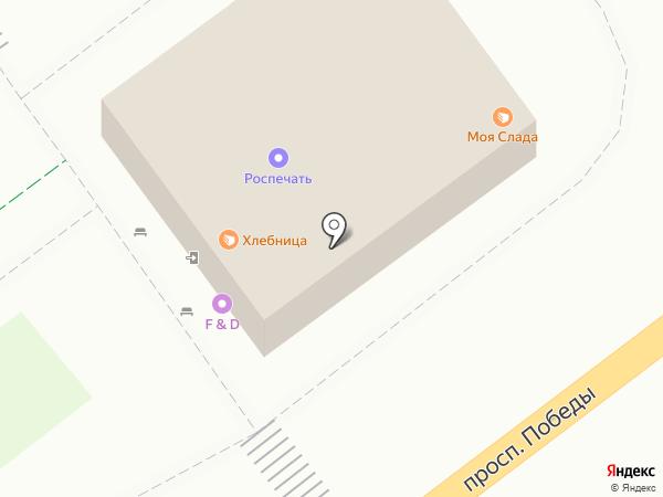 Магазин кондитерских изделий на карте Липецка
