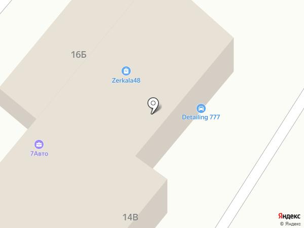 777 на карте Липецка