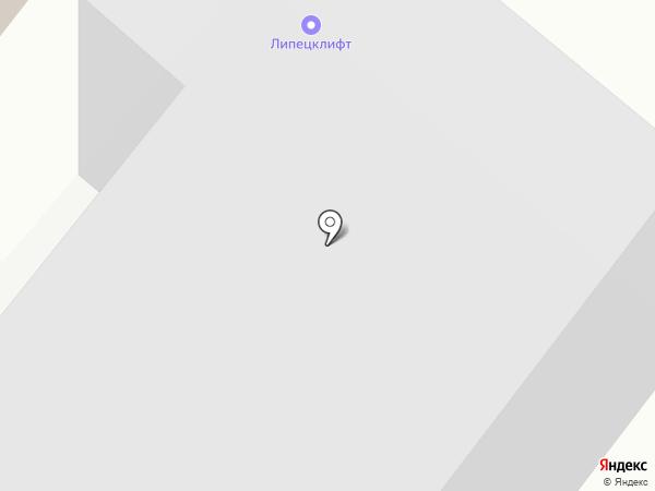 Липецклифт на карте Липецка