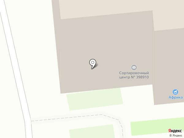 Почтовое отделение №38 на карте Липецка