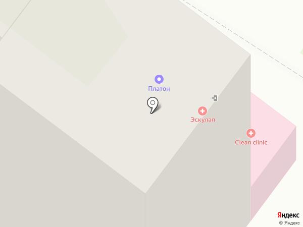 Октавиан на карте Липецка