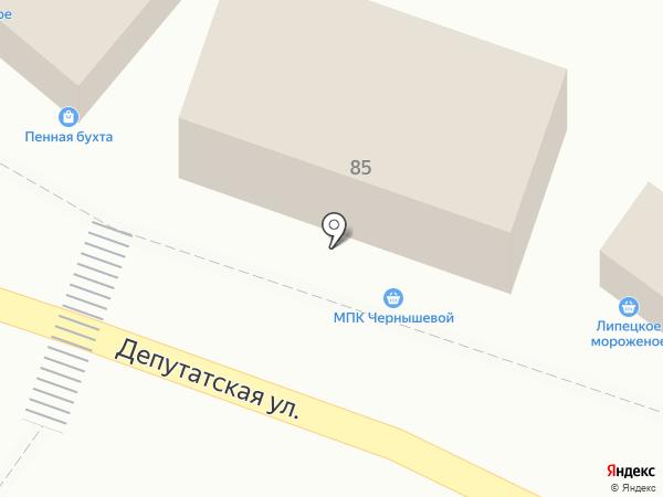 Мясной магазин на карте Липецка