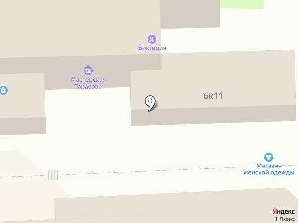 Магазин женской верхней одежды на карте Липецка