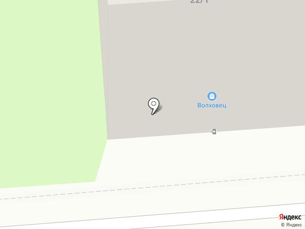 Волховец на карте Липецка