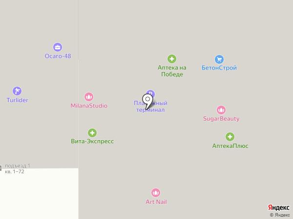 Липецкий бавар на карте Липецка